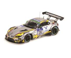 Minichamps - BMW  - mc437152526 : 2015 BMW Z4 GT3 BMW Sports Trophy Team Marc VDS 24hrs Nurburgring Farfus/Muller /Catsburg/Adorf *resin series*