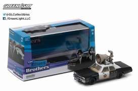 Dodge  - Monaco *Blues Brothers* 1974 black/white - 1:43 - GreenLight - 86423 - gl86423 | The Diecast Company