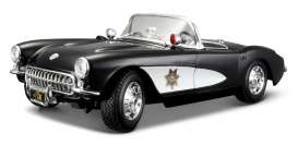 Chevrolet Corvette - 1957 black/white - 1:18 - Maisto - 31380 - mai31380 | The Diecast Company