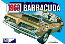 MPC - Plymouth  - mpc832 : 1969 Plymouth Barracuda, plastic modelkit