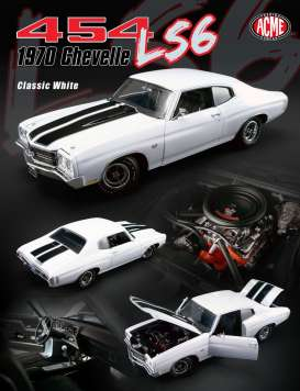 Chevrolet  - 1970 classic white - 1:18 - Acme Diecast - acme1805508 | The Diecast Company