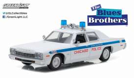 Dodge  - 1975 white/blue - 1:24 - GreenLight - 84012 - gl84012 | The Diecast Company