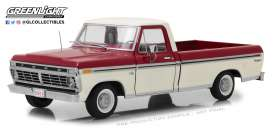Ford  - F-100 pick-up 1972 Red & White - 1:18 - GreenLight - 12962 - gl12962 | The Diecast Company
