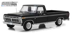 Ford  - F-100 pick-up 1972 Black - 1:18 - GreenLight - 12963 - gl12963 | The Diecast Company