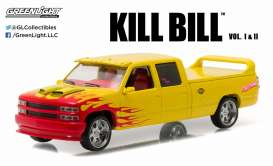 Chevrolet  - Custom C-2500 Crew Cab 1997 yellow/red/pink - 1:43 - GreenLight - 86481 - gl86481 | The Diecast Company