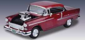 Chevrolet  - 1955 metallic red - 1:18 - Motor Max - 79002r - mmax79002r | The Diecast Company