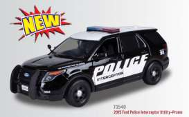 Ford  - 2015 black/white - 1:18 - Motor Max - 73540bk - mmax73540bk | The Diecast Company