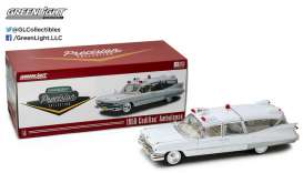 Cadillac  - 1959 white - 1:18 - GreenLight Precision Collection - GLPC18004 | The Diecast Company