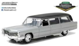 Cadillac  - S&S Limousine 1966 silver/black - 1:18 - GreenLight Precision Collection - GLPC18005 | The Diecast Company