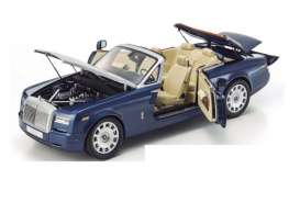 Kyosho - Rolls Royce  - kyo8641mb : Rolls Royce Phantom Drophead Coupe Series II, blue