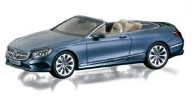 Norev - Mercedes  - nor351412 : 2015 Mercedes Benz S-Klass Cabriolet, blue