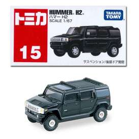 Hummer  - H2 black - 1:67 - Tomica - 015 - to015 | The Diecast Company