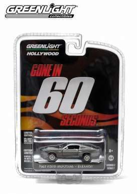 Shelby  - Mustang GT500E 1967 grey/black - 1:64 - GreenLight - 44742 - gl44742 | The Diecast Company