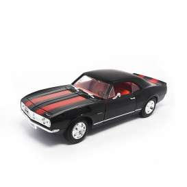 Chevrolet  - 1968 black/red stripes - 1:18 - Lucky Diecast - ldc92188bk | The Diecast Company