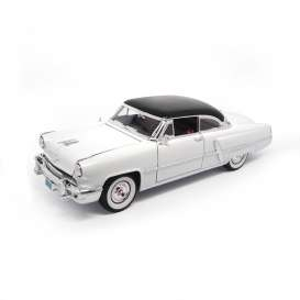 Lincoln  - 1952 white w/black roof - 1:18 - Lucky Diecast - ldc92808w | The Diecast Company
