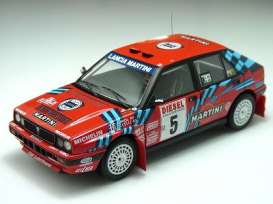 Triple9 Collection - Lancia  - T9-1800170 : 1989 Lancia Delta HF Integrale 16V #5 D.Oriol San Remo Rally *Diecast Sealed Body Series*, red/white/blue