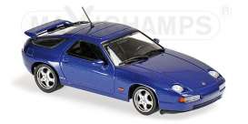 Porsche  - 928 GTS 1991 dark blue metallic - 1:43 - Maxichamps - 940068101 - mc940068101 | The Diecast Company