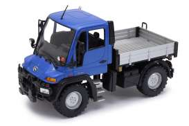 Unimog  - blue/grey - 1:24 - Welly - 22098b - welly22098b | The Diecast Company