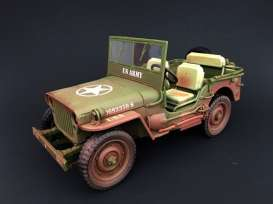 Jeep Willys - US Army muddy & green 1944 muddy & green - 1:18 - American Diorama - AD-77404A - AD77404A | The Diecast Company