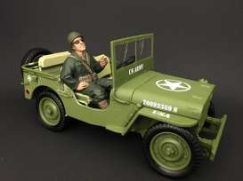 Figures diorama - army green/brown - 1:18 - American Diorama - 77412 - AD77412 | The Diecast Company