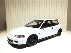 Tarmac - Honda  - Tarmac01PW : Spoon Honda Civic EG6 Gr.A racing *Resin Series*, plain white with black rims