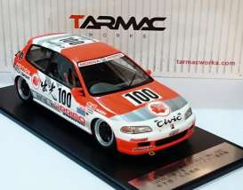 Honda  - 1993 white/orange - 1:18 - Tarmac - Tarmac01IM | The Diecast Company