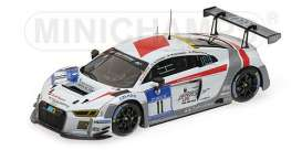 Minichamps - Audi  - mc437161111 : 2016 Audi R8 LMS AUDI RACE EXPERIENCE Bollrath/ Ohlsson/Hackländer/Oeverhaus 24H Nurburgring, white/silver
