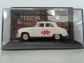 Simca  - 1954 white/red - 1:43 - Magazine Models - SIMgenevieve - magSIMgenevieve | The Diecast Company