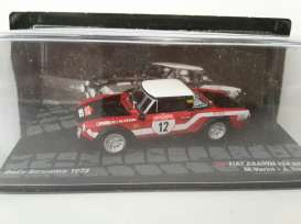 Fiat Abarth - 124 1973 red/black/white - 1:43 - Magazine Models - RA124 - MagRA124 | The Diecast Company