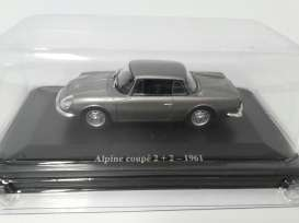 Renault  - Alpine 2 +2 1961 silver - 1:43 - Magazine Models - 2plus2 - magRE2plus2 | The Diecast Company