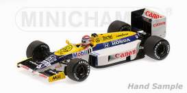 Minichamps - Williams  - mc435860006 : 1986 Williams FW11 #6 Nelson Piquet Winner of First Hungary GP, white/yellow/blue
