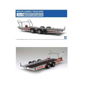 Brian James Trailer - Trailer  - 1:24 - Aoshima - 052600 - abk05260 | The Diecast Company
