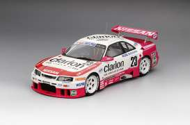 Nissan  - 1996 white/pink - 1:18 - TrueScale - m161811 - tsm161811 | The Diecast Company