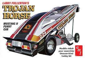 AMT - Ford Mustang - amts1009 : 1974 Ford Mustang Funny Car Trojan Horse, plastic modelkit