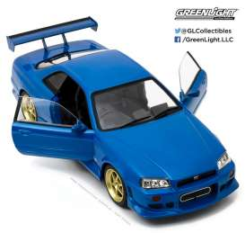 Nissan  - 1999 bayside blue - 1:18 - GreenLight - 19032 - gl19032 | The Diecast Company