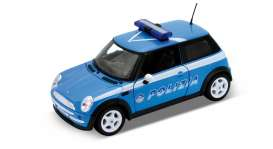 Mini  - 2005 blue/white - 1:24 - Welly - 22075IP - welly22075IP | The Diecast Company