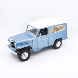Jeep Willys - blue/white - 1:18 - Lucky Diecast - 92859 - ldc92859b | The Diecast Company