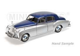Minichamps - Rolls Royce  - mc100134902 : 1954 Rolls Royce Silver Cloud II, silver/blue
