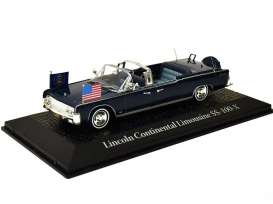 Lincoln  - 1963 blue - 1:43 - Magazine Models - prc601 - magprc601 | The Diecast Company