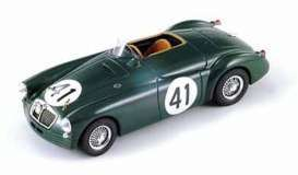 Triple9 Collection - MG  - T9-1800162 : 1955 MG EX182 #41 Locket/Miles 24H Le Mans. Diecast model with opening front doors