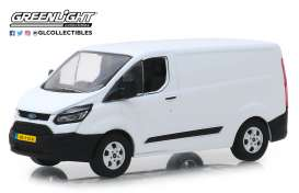 Ford  - Transit Custom V362 2016 frozen white - 1:43 - GreenLight - 51094 - gl51094 | The Diecast Company