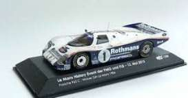 Porsche  - 1986 white/blue - 1:43 - IXO Models - ixLM1986 | The Diecast Company