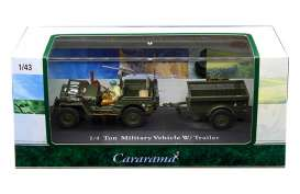 Willys  - army green - 1:43 - Cararama - 14901 - cara14901 | The Diecast Company