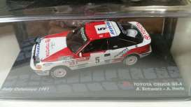 Toyota  - Celica 1991 red/white - 1:43 - Magazine Models - RAcelicacata - MagRAcelicacata | The Diecast Company