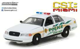 GreenLight - Ford  - gl86508 : 2003 Ford Crown Victoria Police Interceptor Miami-Dade Police CSI: Miami (2002-2012 TV Series)