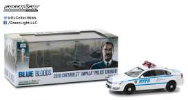 GreenLight - Chevrolet  - gl86509 : 2010 Chevrolet Impala New York City Police Dept (NYPD) *Blue Bloods TV Series*