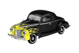Ford  - 1940 black/yellow - 1:18 - Motor Max - mmax73108bky | The Diecast Company