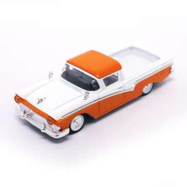 Ford  - 1957 orange/white - 1:43 - Lucky Diecast - ldc94215o | The Diecast Company