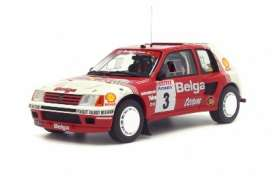 Peugeot  - 1985 red/white - 1:18 - OttOmobile Miniatures - otto647 | The Diecast Company