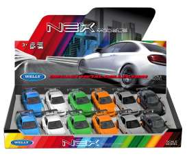 Welly - Porsche  - Welly49720SPD-01~12 : 1/34-1/38 Porsche GT3 RS Display with 12pcs in 6 colours (orange, blue, white, grey, black & green).
